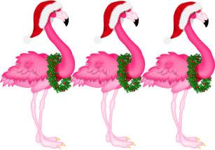 sale flamingo christmas card srf - Flamingo Christmas