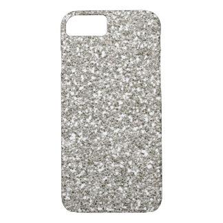 SALE Gorgeous Silver (faux) Glitter iPhone 7 case