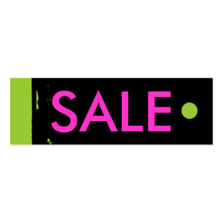 """""""SALE"""" Hang Tag Business Card Templates"""
