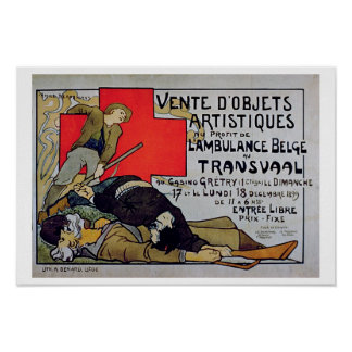 'Sale of Art Objects in Aid of the Belgian Ambulan Poster