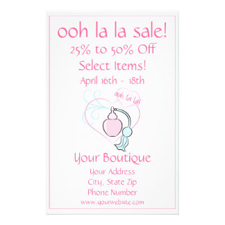 Sale - ooh la la! 14 cm x 21.5 cm flyer