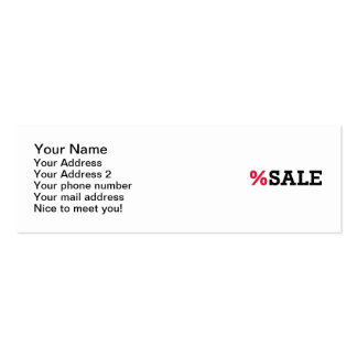Sale Pack Of Skinny Business Cards