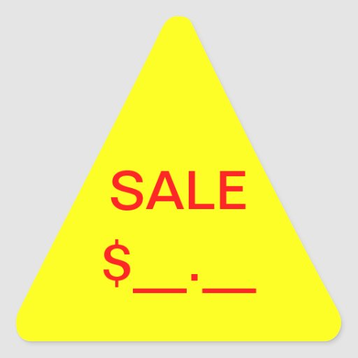 Sale Price Label Stickers