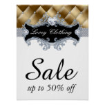 Sale Retail Fashion Jewellery Poster tufted satin