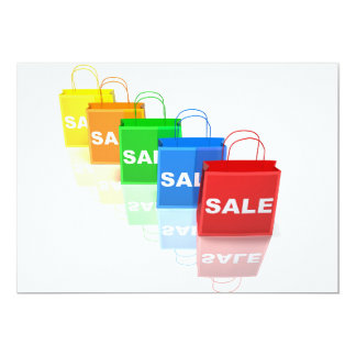 Sale Shopping Bags Invitations