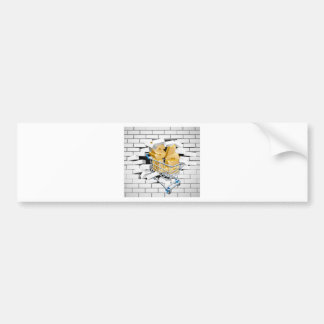 Sale Shopping Cart Smashing Wall Bumper Sticker