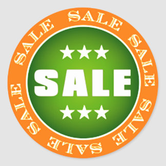 Sale Sign Classic Round Sticker