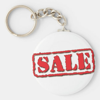 Sale Sign- L Basic Round Button Key Ring