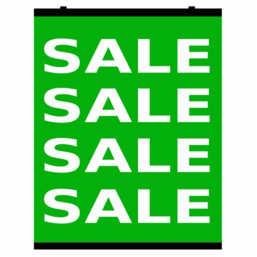Sale Sign Acrylic Cut Outs