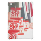 Sale tags ached to hanging clothes, close-up iPad mini cover