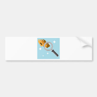 Sale Tags under magnifying glass vector Bumper Sticker