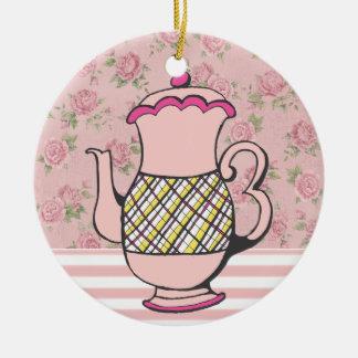 Sale! Tea Time Round Ceramic Decoration