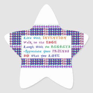 SALE Wisdom Quote Words printed gifts for all Star Sticker