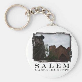 Salem Guard Basic Round Button Key Ring