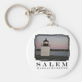 Salem Lighthouse Basic Round Button Key Ring