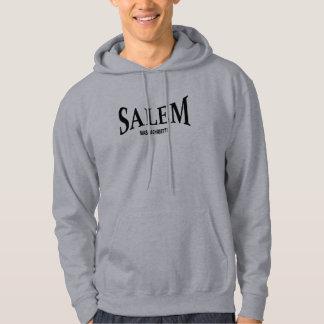 Salem Massachusetts - black print Hoodie