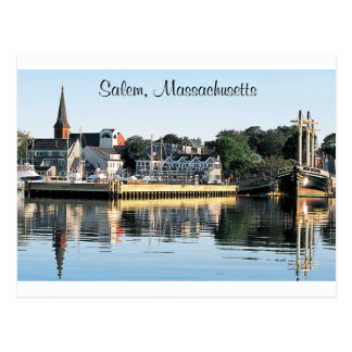 Salem Massachusetts Marina  Post Card