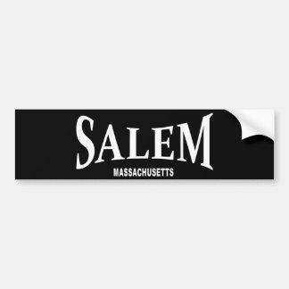 Salem Massachusetts - white Bumper Sticker