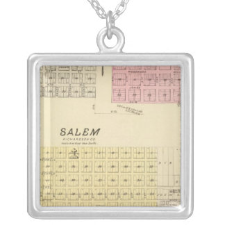 Salem, Nebraska Silver Plated Necklace