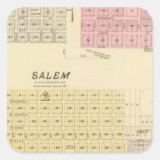 Salem, Nebraska Square Sticker
