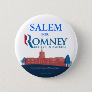 Salem Oregon for Mitt Romney button