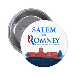 Salem Oregon for Mitt Romney button