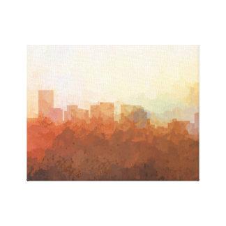SALEM, OREGON SKYLINE-In the Clouds Canvas Canvas Print