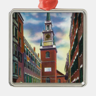 Salem Street View of Old North Church Bldg Christmas Ornament