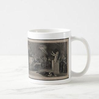 Salem Witch Trial Illustration Basic White Mug