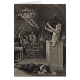 Salem Witch Trial Illustration Greeting Card