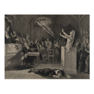 Salem Witch Trial Illustration Postcard