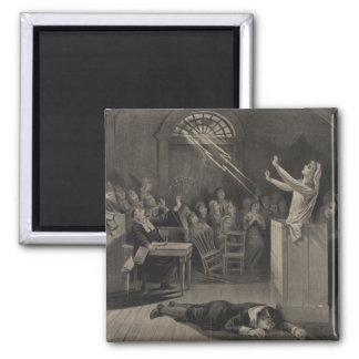 Salem Witch Trial Illustration Square Magnet