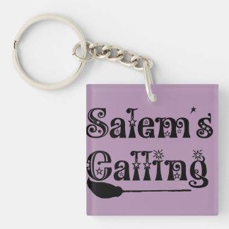 Salem's Calling Single-Sided Square Acrylic Key Ring
