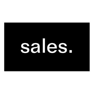Sales Business Card Templates