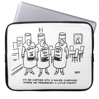 Sales Campaign Lacking in Dignity Laptop Sleeves