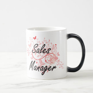 Sales Manager Artistic Job Design with Butterflies Morphing Mug