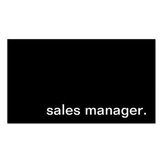 Sales Manager Business Card