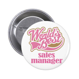 Sales Manager Pink Gift 6 Cm Round Badge