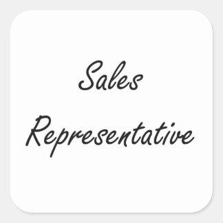 Sales Representative Artistic Job Design Square Sticker