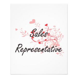 Sales Representative Artistic Job Design with Hear 11.5 Cm X 14 Cm Flyer