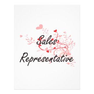 Sales Representative Artistic Job Design with Hear 21.5 Cm X 28 Cm Flyer