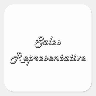 Sales Representative Classic Job Design Square Sticker