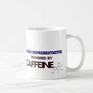 Sales Representative Powered by caffeine Coffee Mugs