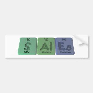 Sales-S-Al-Es-Sulfur-Aluminium-Einsteinium.png Bumper Stickers