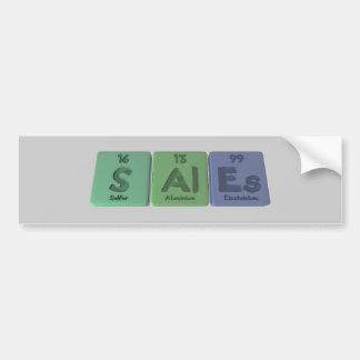 Sales-S-Al-Es-Sulfur-Aluminium-Einsteinium.png Bumper Sticker