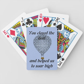 Sales Team Thank You Mosaic Hot Air Balloon Bicycle Playing Cards