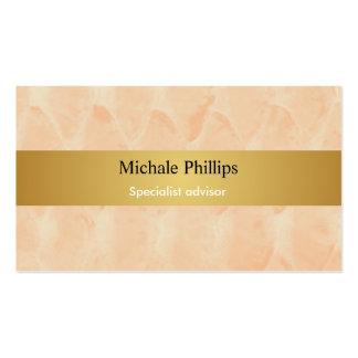 Salesman - Cream cream elegant gold pie Pack Of Standard Business Cards