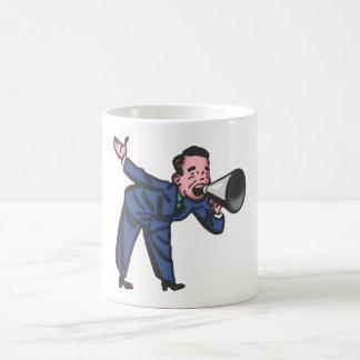 Salesman mountebank salesman buffers coffee mugs