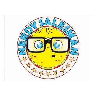 Salesman Nerdy Postcard