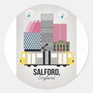 Salford Classic Round Sticker